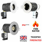 4 x Fire Rated / IP65 Bathroom / LED GU10 Recessed Ceiling Spotlights Downlights