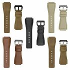 INFANTRY Army Military Luxury Genuine Leather Watch Strap Sport Band 24MM