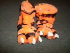 Slipper Boots Orange Black TIGER Fuzzy (M 7/8 XL (11/12)* Comfy Warm Faux Fur