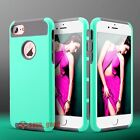 For iPhone 7 7 Plus Case Cover Silicone Rubber Shockproof Hybrid Hard Turquoise
