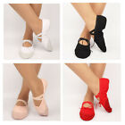 1Pair Soft Comfortable Child Canvas Split Sole Ballet Slippers Dance Shoes Girls