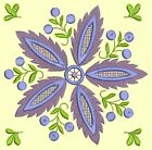 Anemone Quilt Squares #5 Singles-DESIGN 9-Machine Embroidery Design in 4 sizes