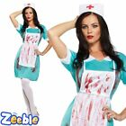 Ladies Bloody Nurse Fancy Dress Costume Adult Womens Halloween Outfit