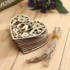 10 x Wooden Shape Love Heart Wedding Hanging Decoration Craft Embellishment