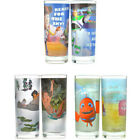 Disney - Set of 2 Glass Tumblers Toy Story Jungle Book Finding Nemo New Official