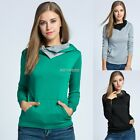 Women Ladies Hoodie Sweater Sweatshirt Hooded Top Coat Pullover Jacket Winter