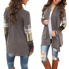 Fashion Women's Long Sleeve Sweater Casual Geometric Stitching Cardigan Coat New