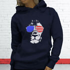 American Lion Independence Fourth Of July Top Day Womens Navy Hoodie