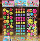Lot Classic Smile 3D Cartoon Game Stickers Kids Reward Sticker Party Gifts J19