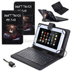 "US Fr Samsung Galaxy Tab A E S S2 S3 7"" 8"" 10.1"" Leather USB Keyboard Case Cover"