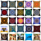 "Bohemia  Colorful Flowers Pillow Case Cushion Cover Fashion Home Decor 18""x18"""
