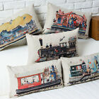 "Colorful Cartoon Train Childlike Pillow Case Decor Cushion Cover Oblong 20""*12"""