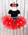 Baby Girl Kid Christmas Minnie Mouse Cosplay Costume Fancy Tutu Dress Headband