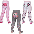 Girls Three Pack Tights Animal Themed Picture Bum and Patterned Legs