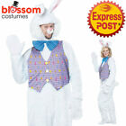 CA57 Deluxe Easter Bunny Rabbit Mascot Suit Fancy Dress Up Adult Costume Outfit