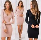 Autumn Dress Women Long Sleeve Casual bandage Dress Party Bodycon dress S-XL