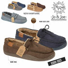 MENS FLEECE FUR LINED  MOCCASIN SLIPPERS FAUX LEATHER WINTER LOAFERS SHOES SIZE