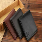 Fashion Mens PU Leather Bifold Wallet Credit/ID Card Holder Slim Coin Purse SS