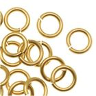 Chain Maille Jump Rings Brass 18 Gauge/Id 4.37mm 100Pc