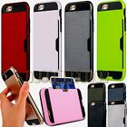 for iphone 7 plus case cover w/ card slot double layer shockproof 7+