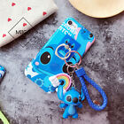 Cartoon Stitch Doraemon Doll Key Chain Stand Ring Case For iPhone X 6s 7 8Plus
