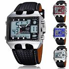 Kyпить OHSEN Dual Time Big Face Analog Digital ALM Chime Day Date LED Mens Quartz Watch на еВаy.соm