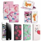 Luxury PU Leather Stand Case + Privacy Tempered Glass Film For iPhone 7 & 7 Plus