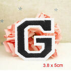 Iron Sew on Embroidered Letter A-Z Motif Badge DIY Craft Applique Accessories