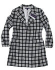 $4,595 Ralph Lauren Purple Label Womens Italy Checkered Silk Lined Trench Coat