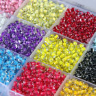 Czech 500pcs 32g 4mm Hole:2mm Round Solid Opaque Glass Seed Beads Jewelry Making