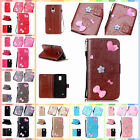 For Samsung Galaxy Note 4 N9100 Finished DIY Anti-lost Strap PU Leather Case Top