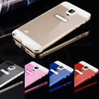 Deluxe Metal Aluminum Bumper Frame+PC Back Cover Case for Samsung Galaxy Note 4#