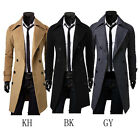 Fashion Mens Warm Winter Slim Trench Coat Double Breasted Long Jacket Coat 1 PC