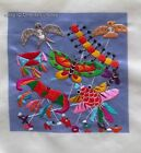 Chinese totally 100% hand su silk embroidery art:kids playing kites 4.73inches