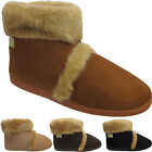 New Mens Warm Furry Luxury Pull On Comfort Indoor Bedroom Coolers Slippers Shoes