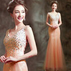 LF329 Deep V Lace Formal Wedding Prom Party Bridesmaid Evening Ball Gown Dress