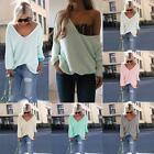 Women New Autumn Sweater V-neck Loose Top Knitwear Casual Outwears