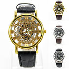 Casual Geneva Men Fashion Watch Steel PU Leather Band Analog Quartz Wrist Watch