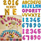 """16"""" Optional Foil Letter A-Z/0-9 Ballons Party Birthday Wedding Decoration"""