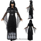 CA88 Womens Black Magic Mistress Halloween Witch Tribal Cult Fancy Dress Costume