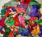 LOT PURE SILK Antique Vintage Sari Fabrics WEIGHT 100 GRAMS SIZES AS YOU #ABH8M