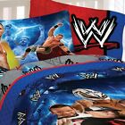 nEw WWE WRESTLING BED SHEET SET - Champions John Cena Blue Bedding Accessories