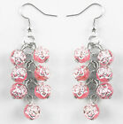 JZ004 wholesale lots cute flower Beads elegant dangle earrings you pick quantity