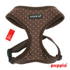 Any Size - PUPPIA - DOTTY - Soft Dog Puppy Harness - Brown w. Pink Dots