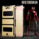 R-JUST Ultrathin Stainless Steel Iron Man Metal Case Cover For iPhone 7 7+ Plus