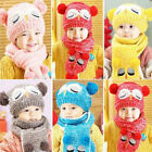 Hot Selling Newest Owl Winter Baby Toddler Boy Girl Kids Warm Hat Cap + Scarf