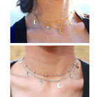 Punk Star & Moon Charms Choker Necklace Fashion Jewelry Women's Collar Party