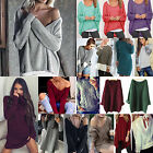 CHIC Womens Long Sleeve V Neck Loose Knitted Sweater Ladies Casual Jumper Tops