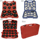 14/23/30PC Oil Filter Wrench Set Cup Type Aluminium Socket Removal Garage Tool