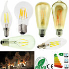 E14 SES E27 ES LED Candle Globe Lights Bulbs Edison Retro Vintage Filament Lamp